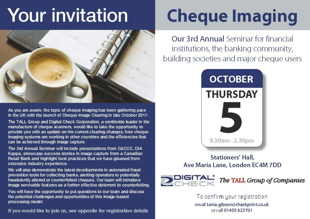 Cheque Imaging Seminar 2017